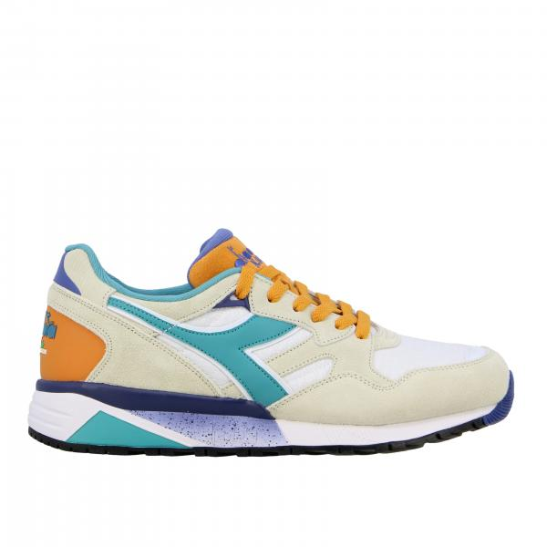 Sneakers N9002 Diadora in pelle e camoscio multicolor