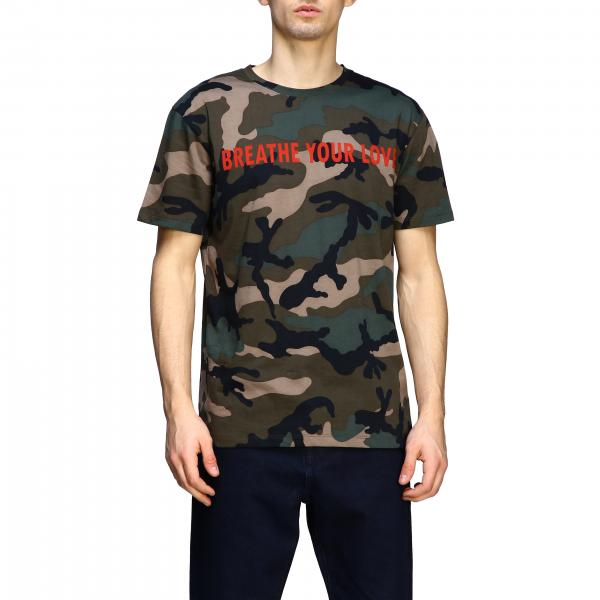 Valentino Camouflage t-shirt with writing