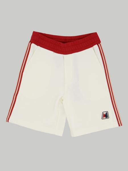 Moncler shorts with striped bands and logo
