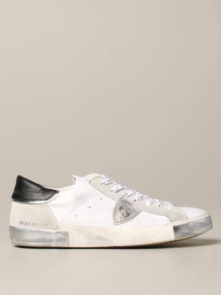 Philippe Model sneakers in worn leather and suede