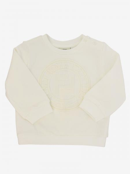 Fendi crewneck sweatshirt with tone-on-tone FF logo