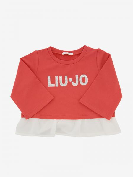 Liu Jo sweater with contrasting logo and flounce