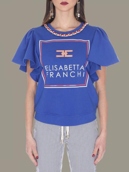Elisabetta Franchi 珠宝链条T恤