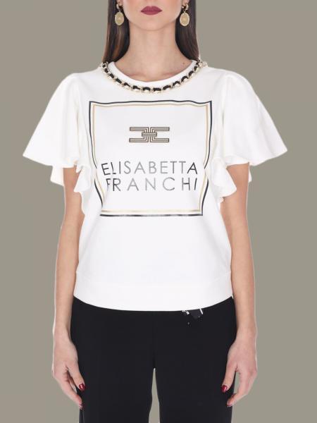 Elisabetta Franchi sweater with jewel chain