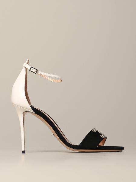 Elisabetta Franchi 真皮绒面革凉鞋