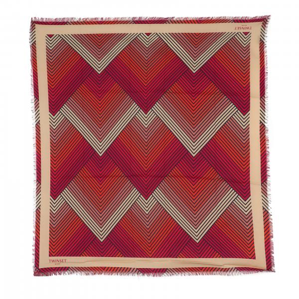 Twin-set scarf with zigzag pattern