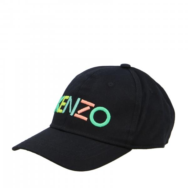 Cappello Kenzo Junior con logo multicolor