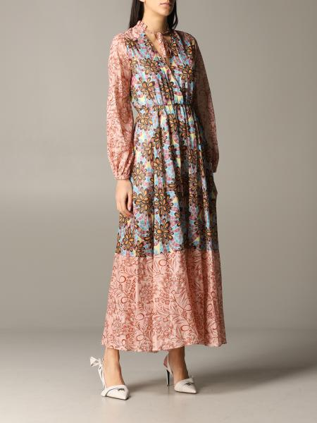 Pinko long dress with floral pattern