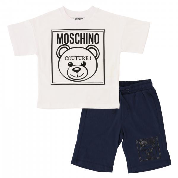 Moschino Kid T-Shirt + Bermudas mit Teddy Print