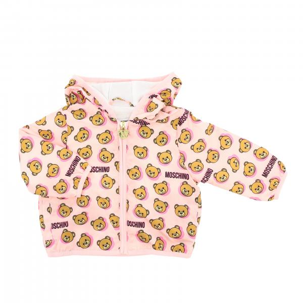 Giubbotto Moschino Baby con cappuccio e stampa teddy