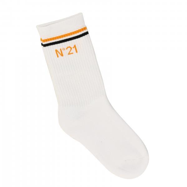 N° 21 logo条纹袜子