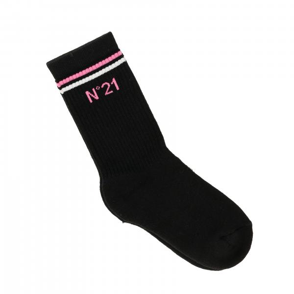 N ° 21 ribbed socks with logo