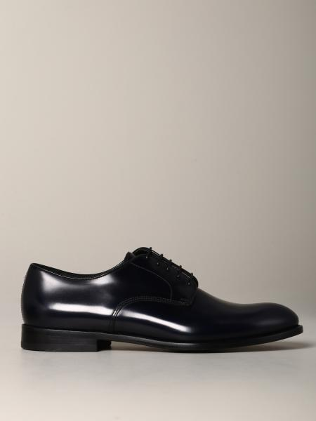 Doucal's lace-up derby in leather