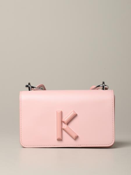 Sac à bandoulière en cuir Kenzo avec monogramme K
