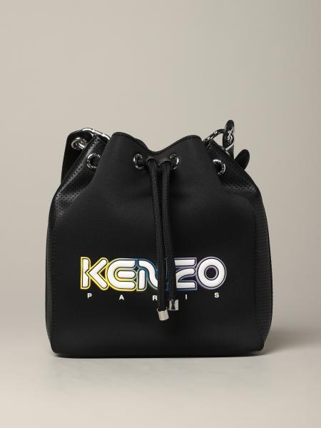Borsa a secchiello Kenzo in neoprene con logo