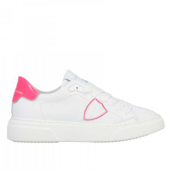 Sneakers Philippe Model in pelle liscia e vernice