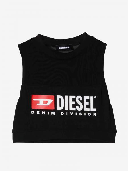 Diesel cropped top with logo print
