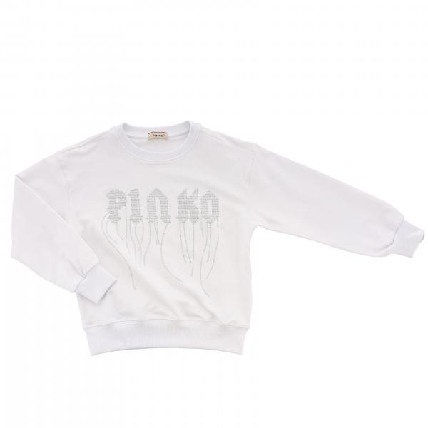 Pinko sweater with logo and fringes