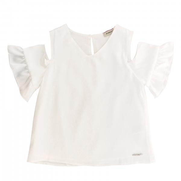 Pinko v-shaped top with broken sleeves