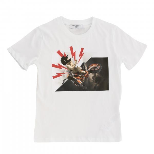 Neil Barrett: Neil Barrett short-sleeved T-shirt with print