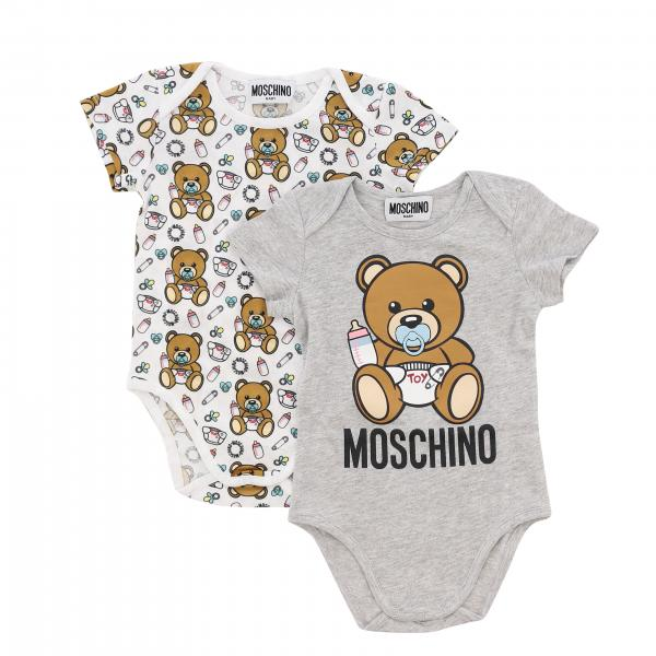Set 2 Body en coton Moschino Baby avec teddy