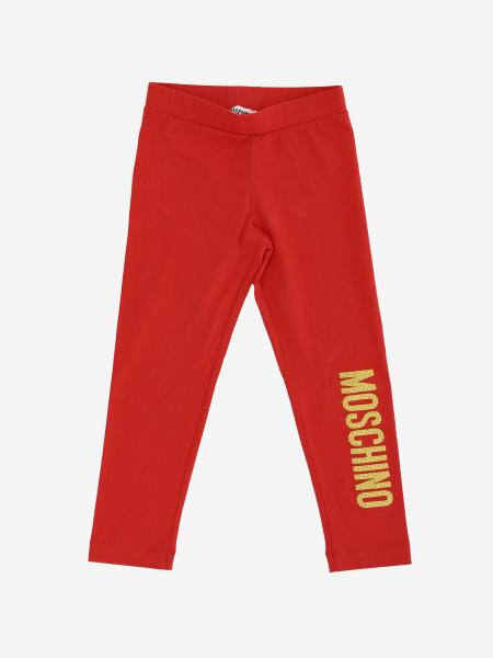 Moschino Kid leggings in stretch fabric with logo