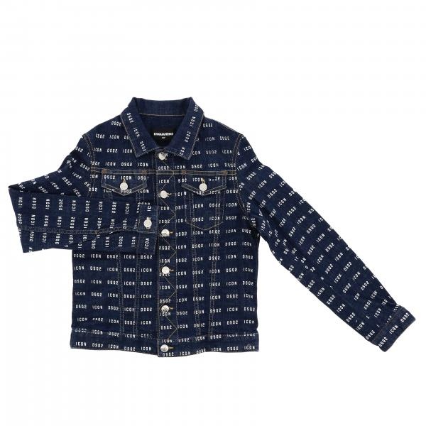 Dsquared2 Junior Jeansjacke mit Logo all over