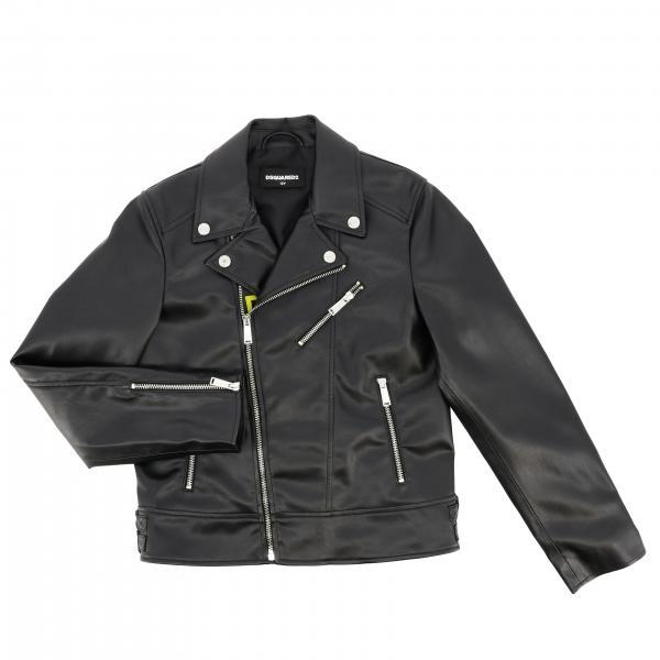 Dsquared2 Junior Jacke mit Reißverschluss und Maxi-Print