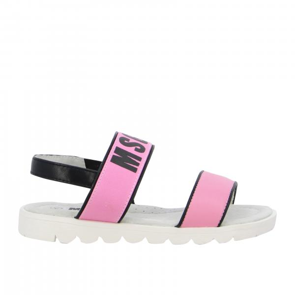 Msgm Kids sandal with printed logo