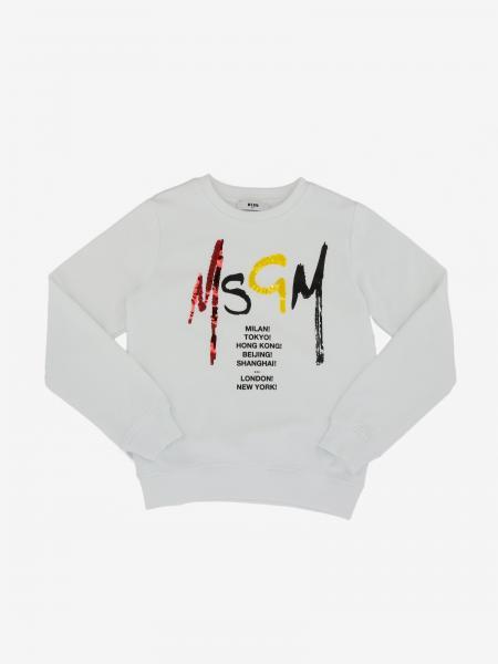 Msgm Kids sweater with logo print