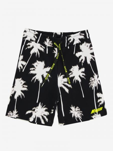 Msgm Kids jogging shorts with all over prints