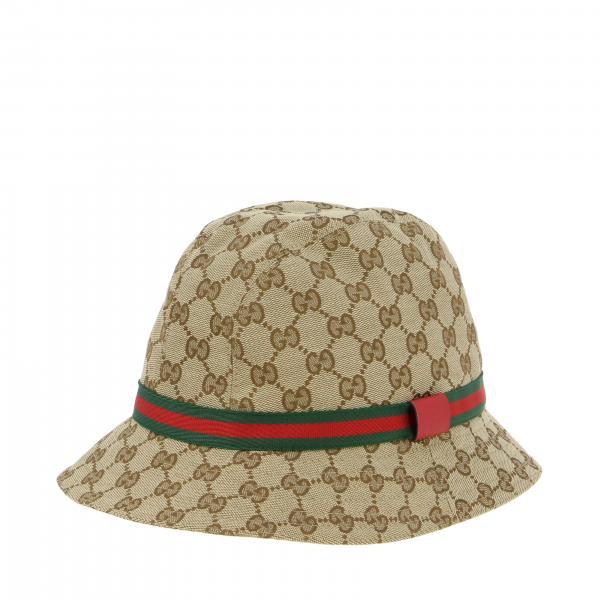 Cappello Gucci GG Supreme con fascia Web