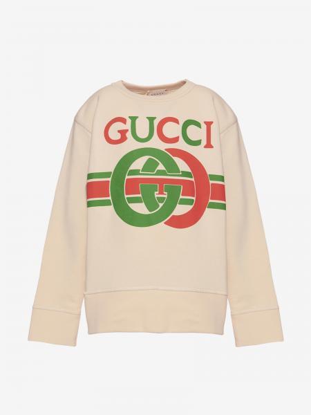 Felpa Gucci a girocollo con monogramma GG
