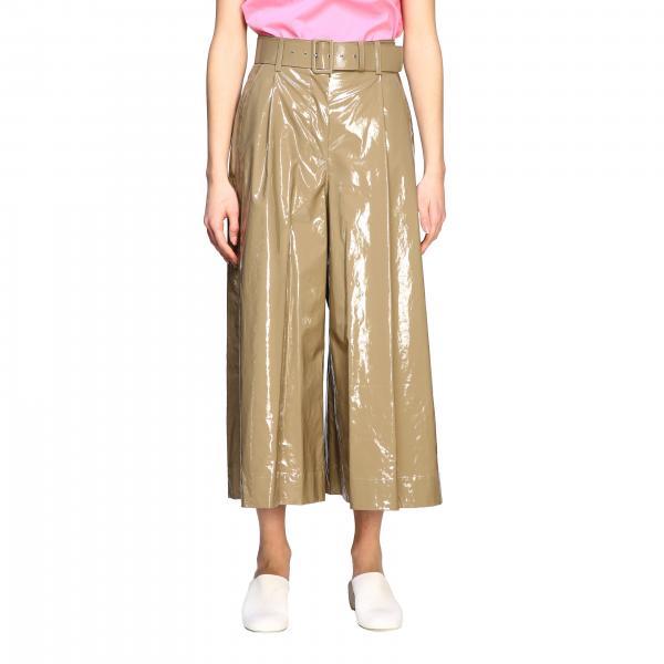 Pantalone Msgm ampio in vernice con cinta