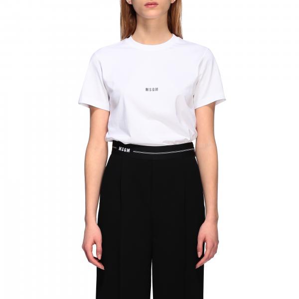 T-shirt Msgm a girocollo con stampa posteriore