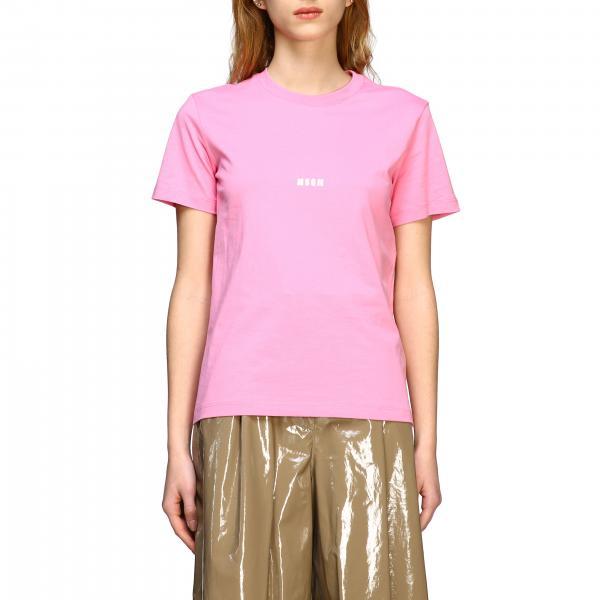 Msgm 背面印花圆领T恤