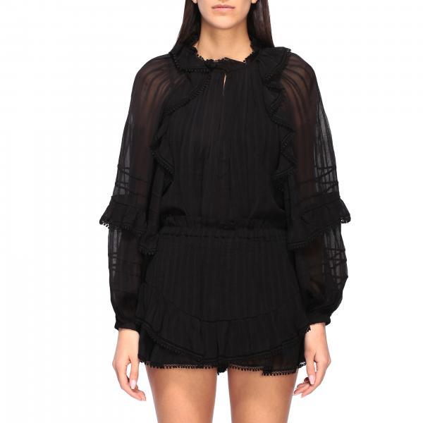 Isabel Marant Etoile 刺绣和荷叶边装饰衬衫