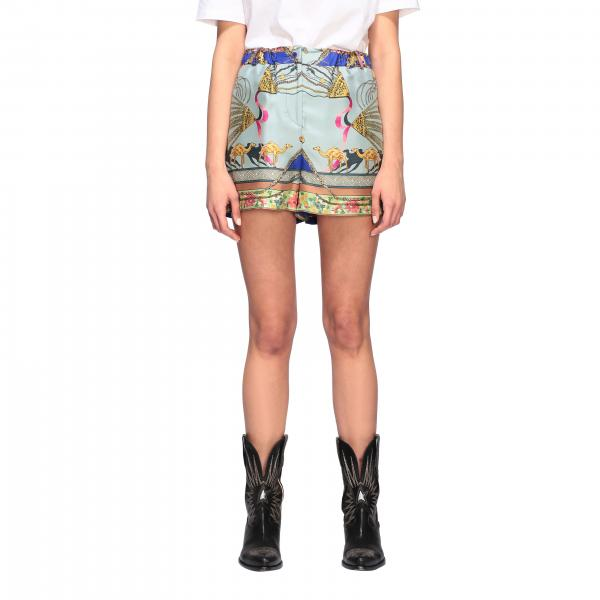 Etro patterned silk shorts