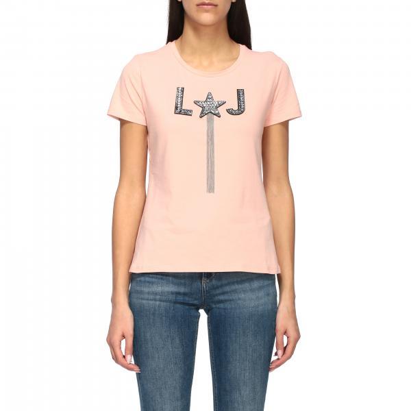 Liu Jo 水钻流苏装饰圆领T恤