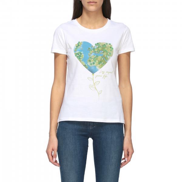 Liu Jo T-Shirt mit Rundhalsausschnitt und Herz Print