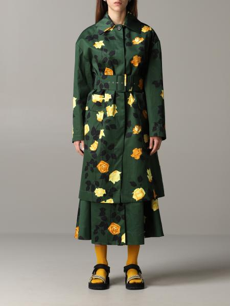 Msgm coat with floral pattern