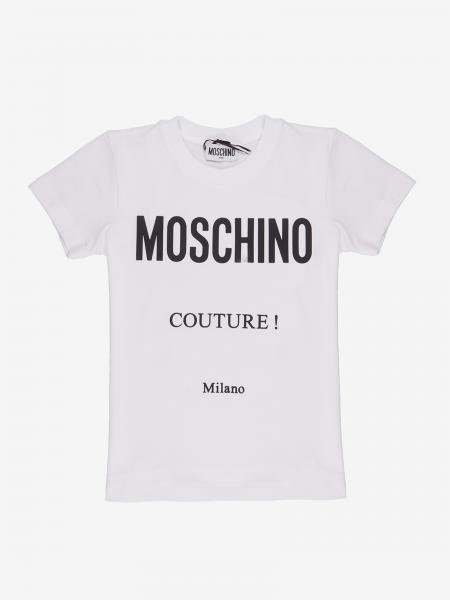 Moschino Kid logo 短袖T恤