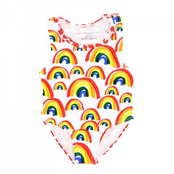 Costume Stella McCartney intero con stampa arcobaleno e cuori