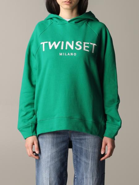 Twin Set logo连帽卫衣