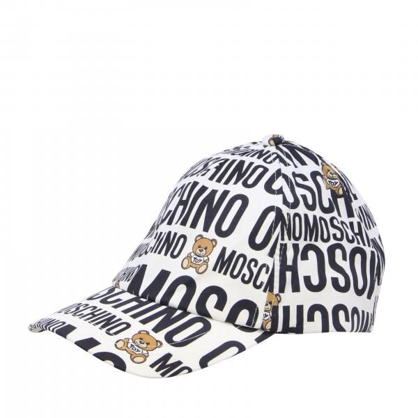 Cappello Moschino Kid con stampa logo e teddy all over