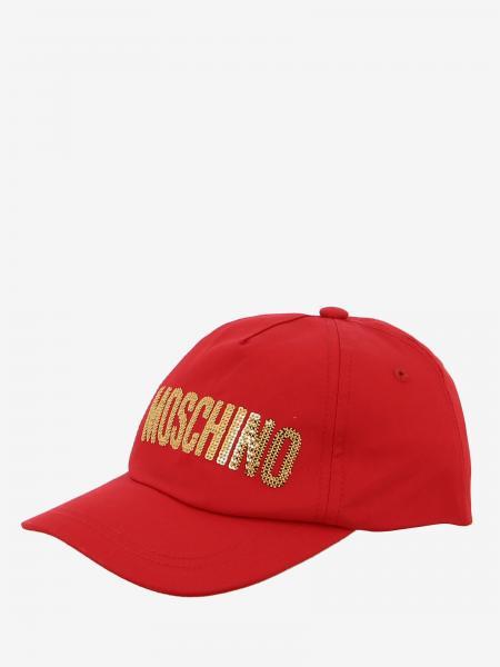 Cappello Moschino Kid con logo di paillettes