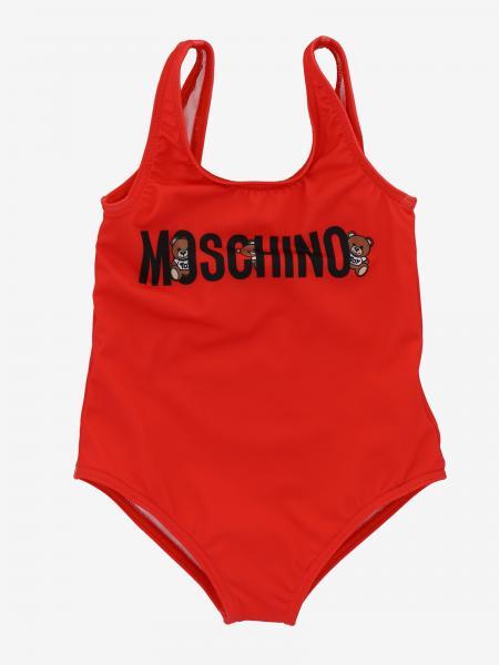 Costume intero Moschino Baby con logo e Teddy
