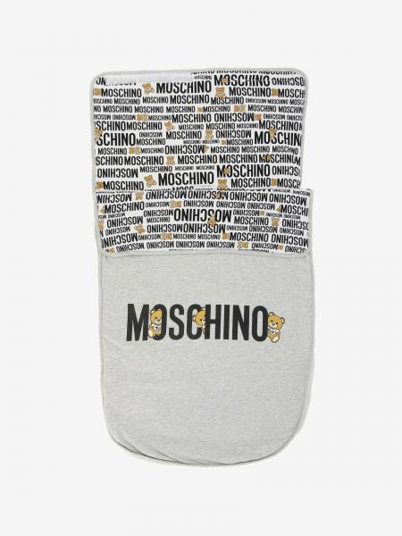Moschino Baby sack blanket with teddy print