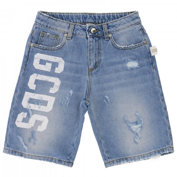 Pantaloncino di jeans Gcds con rotture