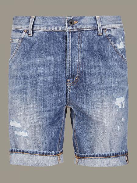 Dondup denim shorts in used denim with breaks